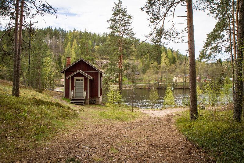 Old lumberjack cabin of Verla